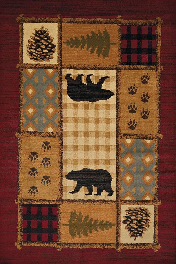 Red (750-5775) Southwestern / Lodge Area Rug