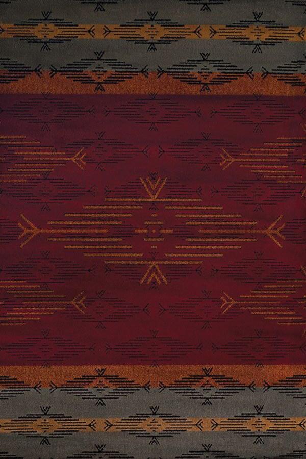 Red (750-6030) Southwestern / Lodge Area Rug