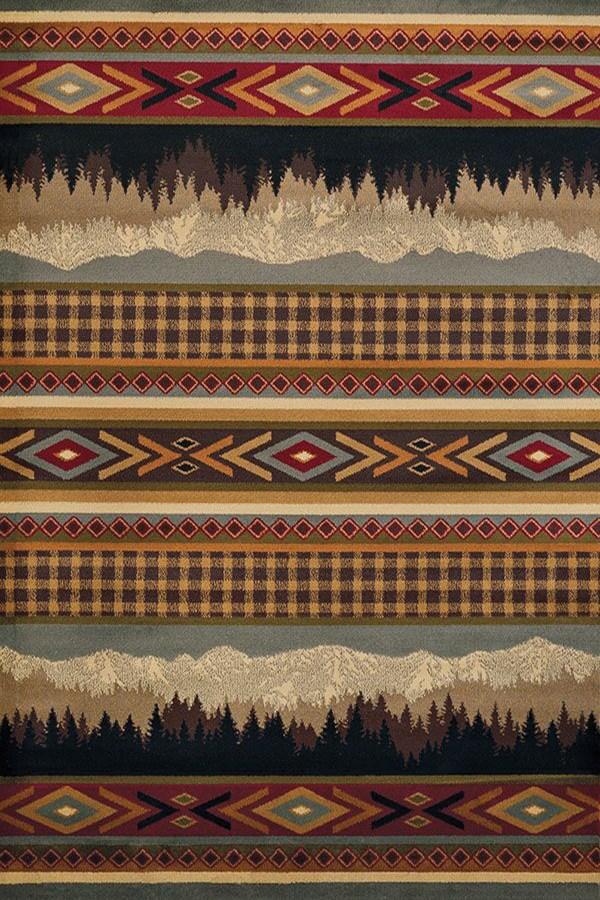 Brown (750-6175) Southwestern / Lodge Area Rug