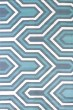 Product Image of Contemporary / Modern Blue (595-41660) Area Rug