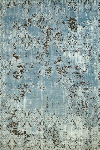 Aqua, Brown (1800-40063) Vintage / Overdyed Area Rug