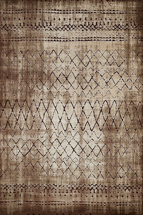 Light Brown, Tan (1800-40152) Southwestern / Lodge Area Rug