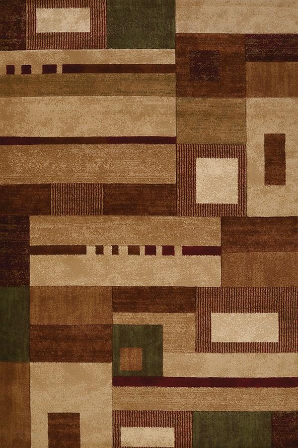 Beige, Brown (710-00226) Contemporary / Modern Area Rug
