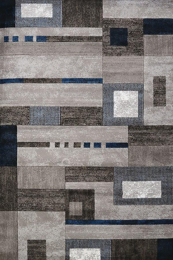 Denim Blue, Grey (710-00261) Contemporary / Modern Area Rug