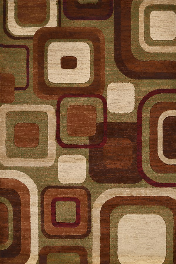Brown, Olive (710-00350) Contemporary / Modern Area Rug