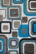 Product Image of Contemporary / Modern Aqua, Navy (710-00363) Area Rug