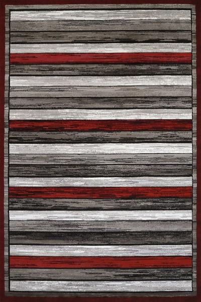 Scarlet, Grey (710-00431) Striped Area Rug