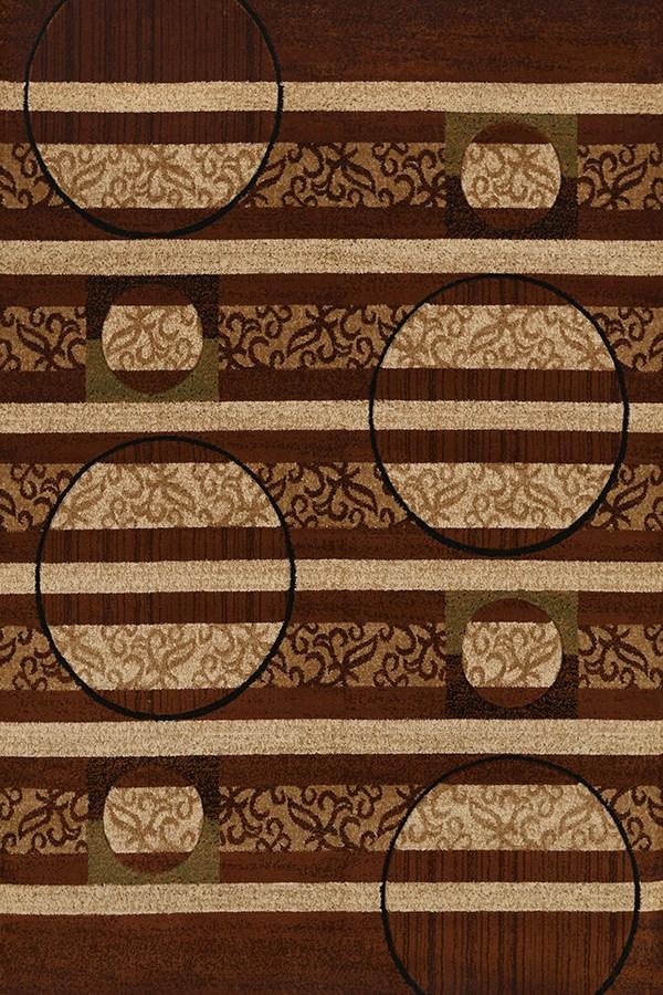 Brown, Tan (710-00550) Contemporary / Modern Area Rug