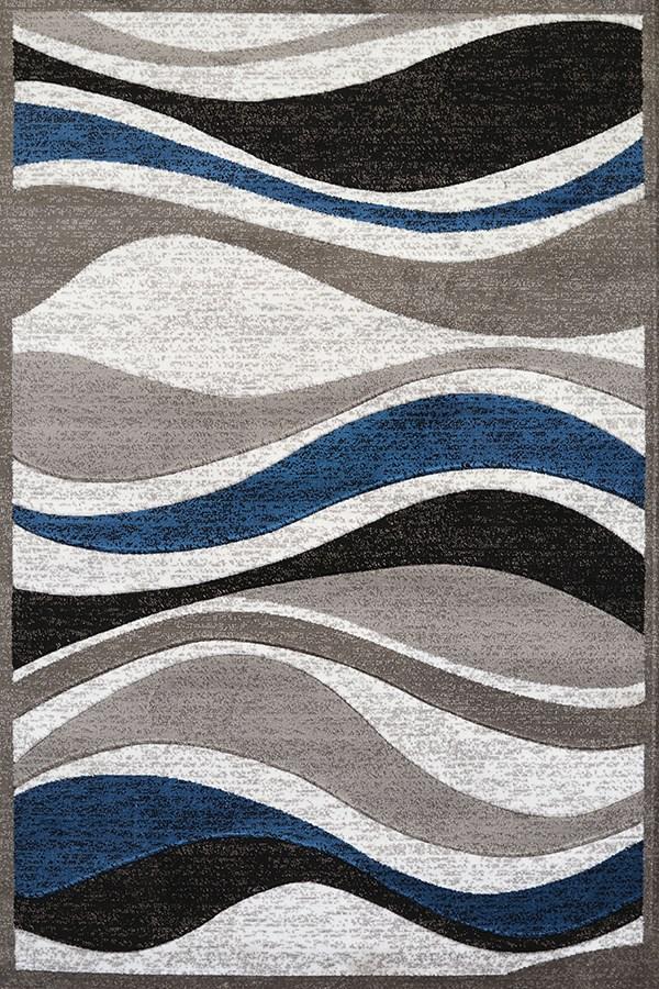 Denim Blue, Taupe (710-00761) Contemporary / Modern Area Rug