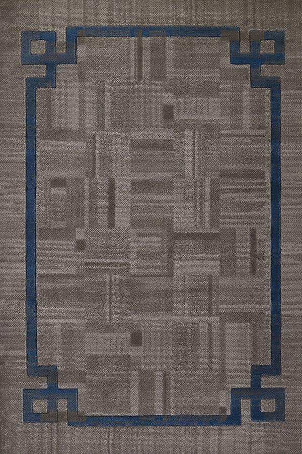 Grey, Blue (710-01172) Transitional Area Rug