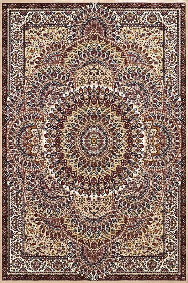 Ivory, Tan (1900-01215) Mandala Area Rug