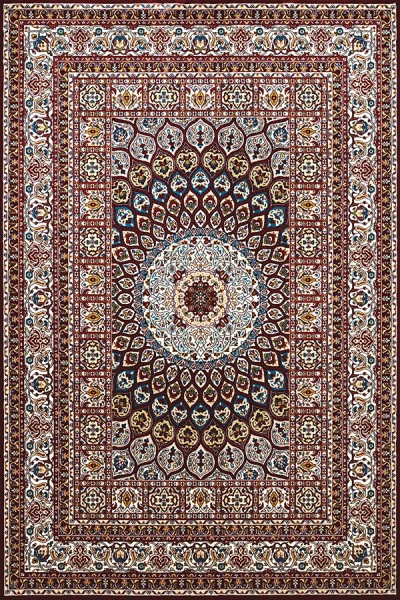 Ruby, Tan (1900-01639) Mandala Area Rug