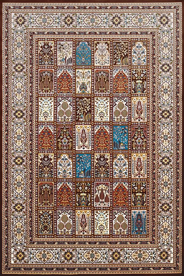Dark Brown, Tan (1900-01955) Traditional / Oriental Area Rug