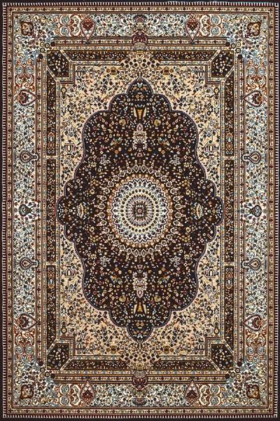 Dark Brown, Tan (1900-02055) Traditional / Oriental Area Rug