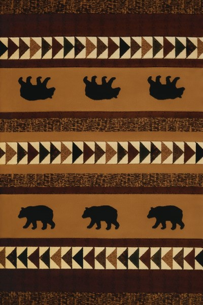 Toffee, Black (516-29659) Country Area Rug
