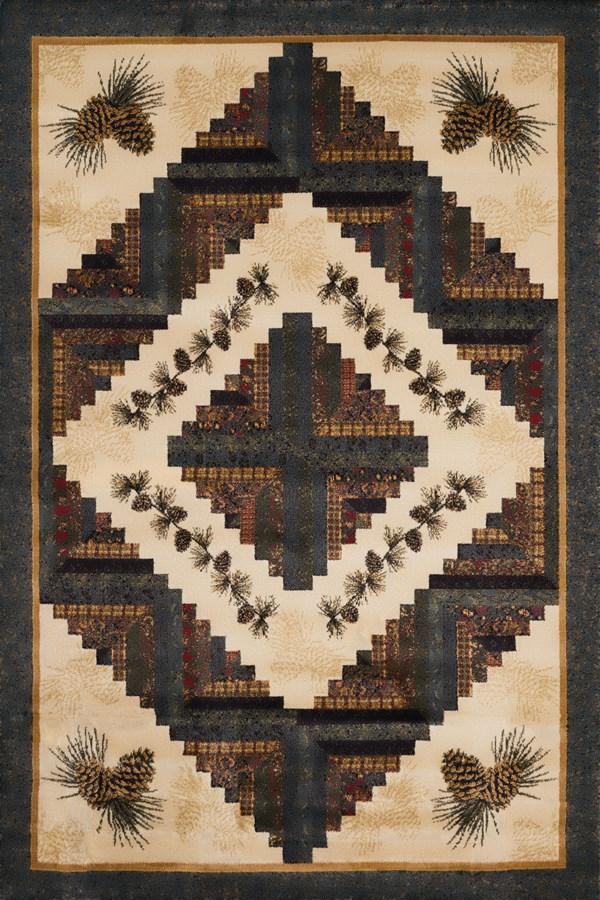 Tan (538-49917) Southwestern / Lodge Area Rug