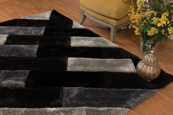 Black (2100-21170) Shag Area Rug