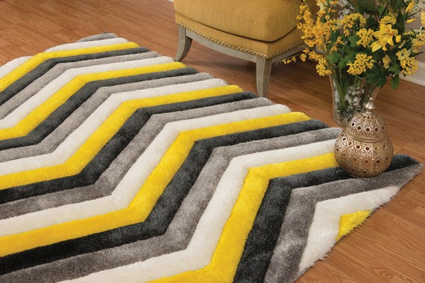 Yellow (2100-21212) Shag Area Rug
