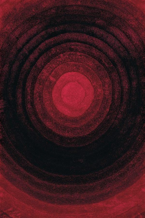 Burnt Red (2100-20838) Shag Area Rug