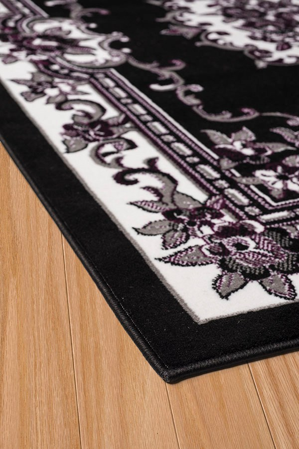 Black (950-10670) Traditional / Oriental Area Rug