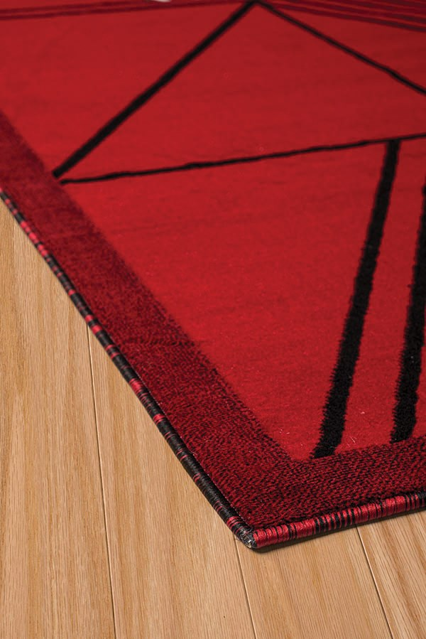 Red (950-11130) Contemporary / Modern Area Rug