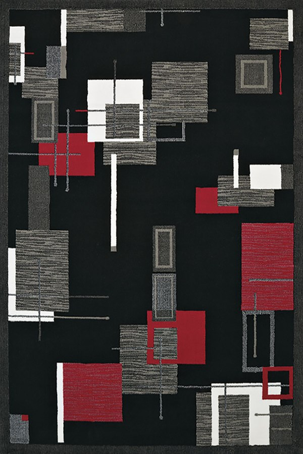 Red (950-10730) Contemporary / Modern Area Rug
