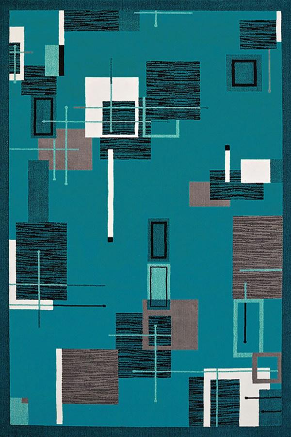 Aqua (950-10763) Contemporary / Modern Area Rug