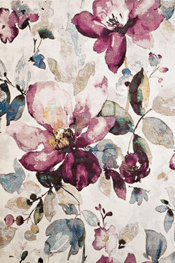 Natural (1830-30475) Floral / Botanical Area Rug