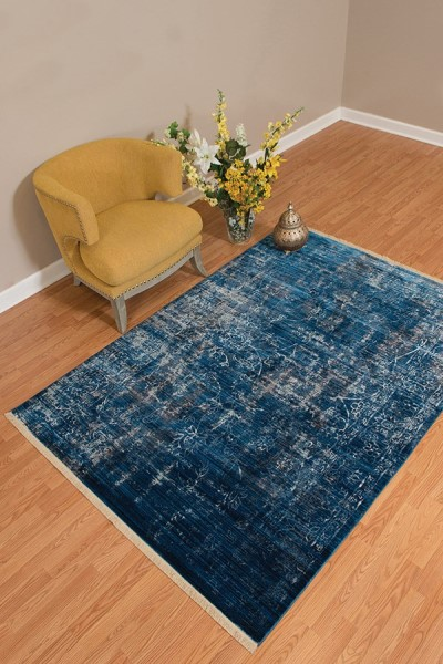 Midnight Blue (1950-10268) Rustic / Farmhouse Area Rug