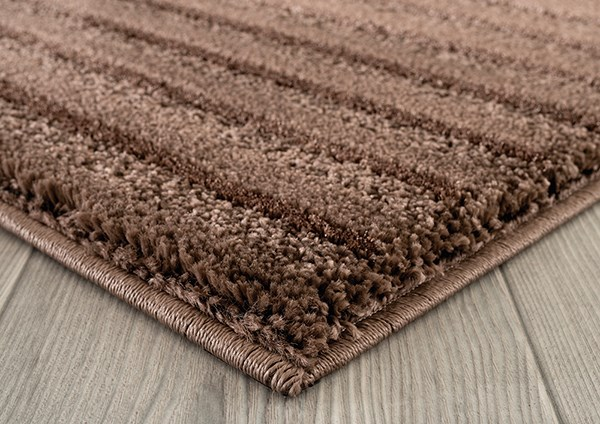 Brown (1955-02550) Striped Area Rug