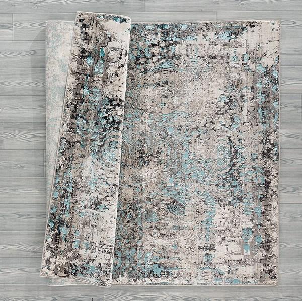 Turquoise (1805-40369) Vintage / Overdyed Area Rug