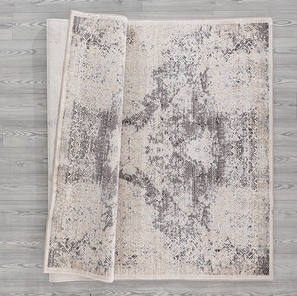 Bone (1805-41101) Vintage / Overdyed Area Rug