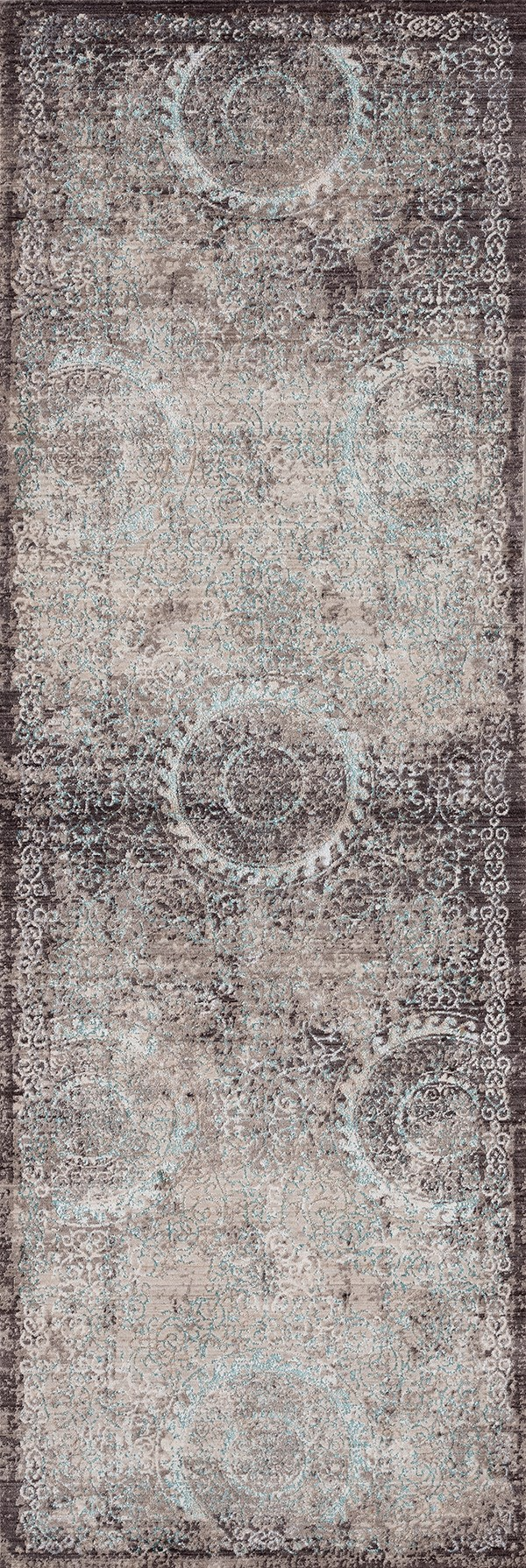 Taupe (1805-40875) Vintage / Overdyed Area Rug