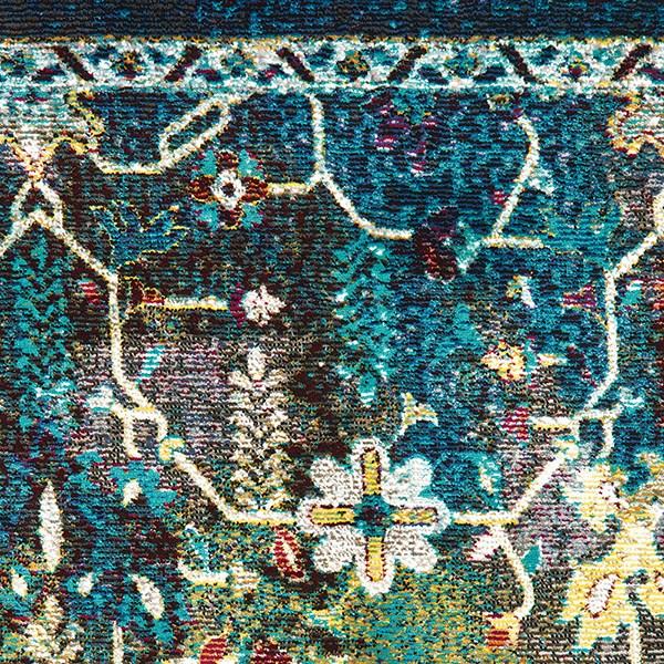 Burgundy, Teal (1831-30375) Bohemian Area Rug