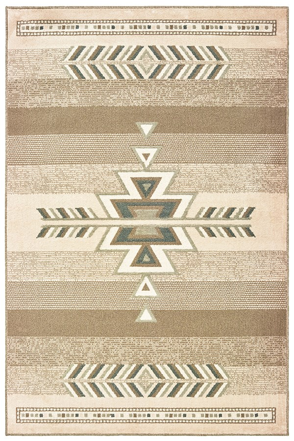 Light Brown (3003-40652) Southwestern / Lodge Area Rug