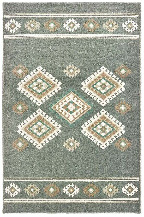 Charcoal (3003-40877) Southwestern / Lodge Area Rug