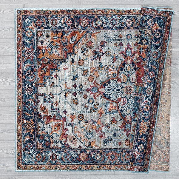 Light Blue, Copper (1815-30275) Traditional / Oriental Area Rug