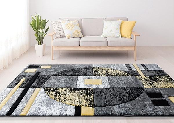 Yellow (2050-10112) Geometric Area Rug