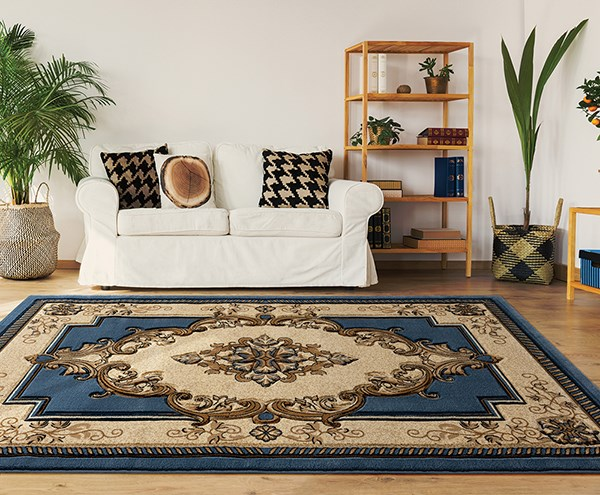 Blue (2050-10560) Traditional / Oriental Area Rug