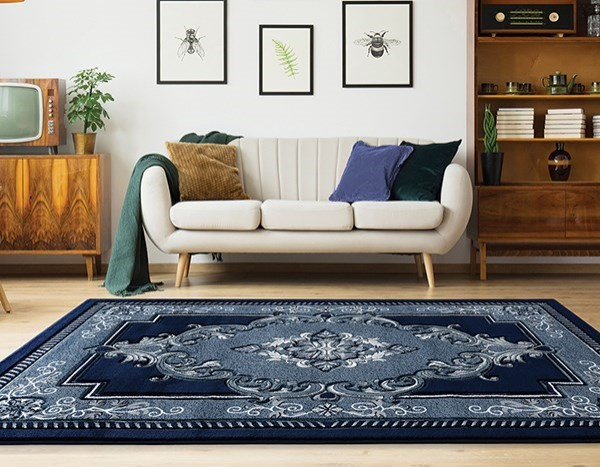 Navy (2050-10564) Traditional / Oriental Area Rug