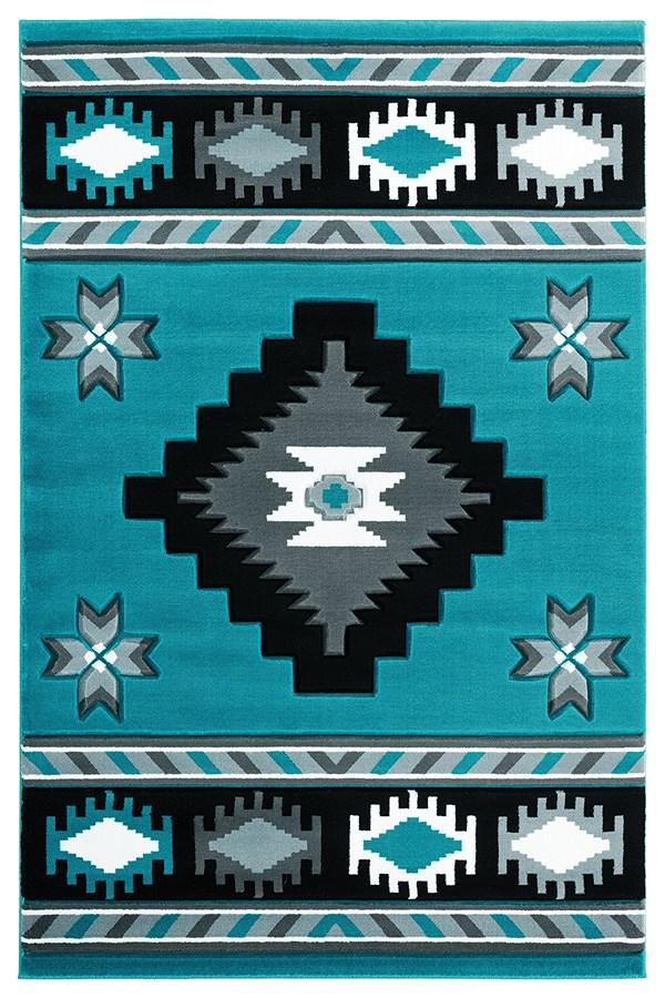 Turquoise (2050-10469) Southwestern / Lodge Area Rug