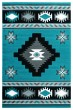 Product Image of Southwestern / Lodge Turquoise (2050-10469) Area Rug