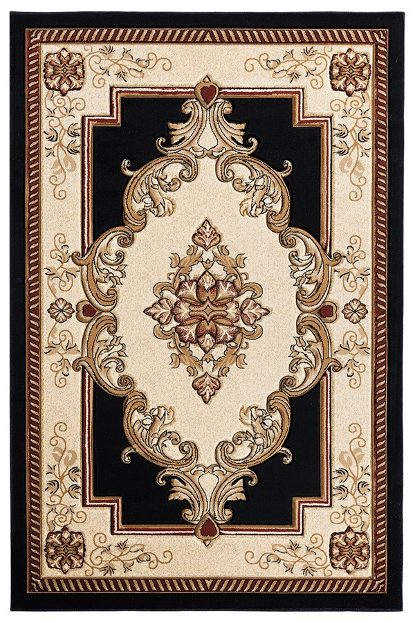 Black (2050-10570) Traditional / Oriental Area Rug