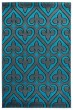 Product Image of Geometric Turquoise (2050-11469) Area Rug