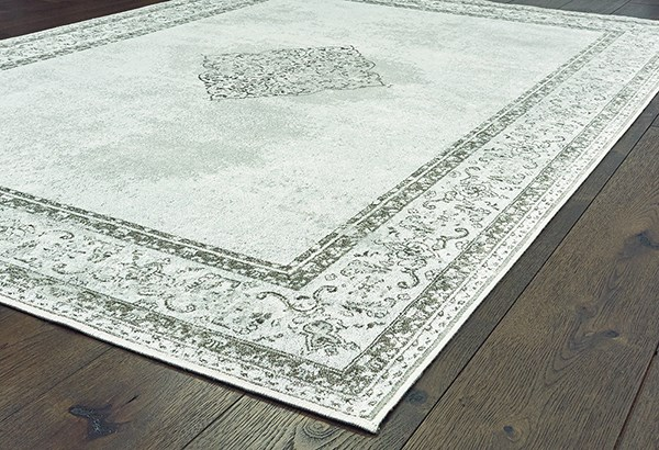 Silver (853-10471) Bordered Area Rug