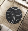 Product Image of White, Charcoal Contemporary / Modern Area Rug