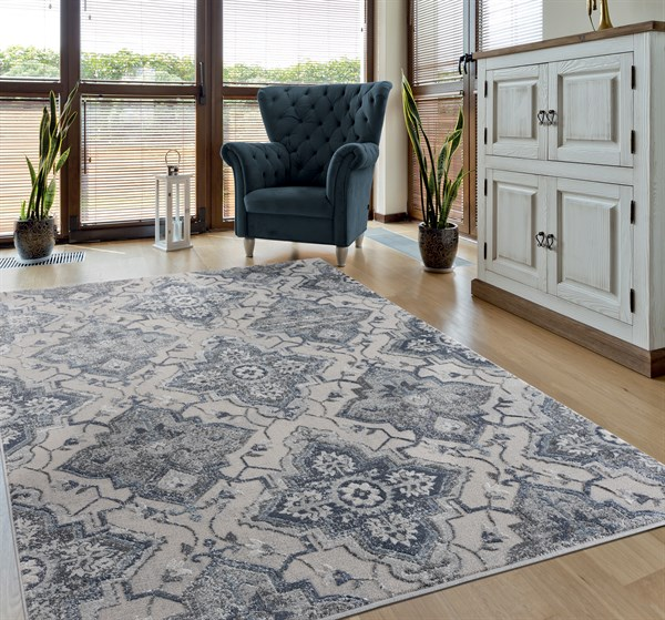 Blue (10560) Transitional Area Rug