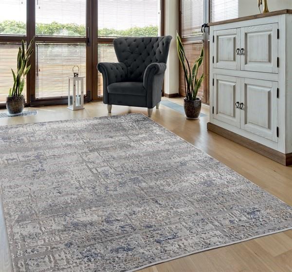 Grey, Ivory (10175) Contemporary / Modern Area Rug