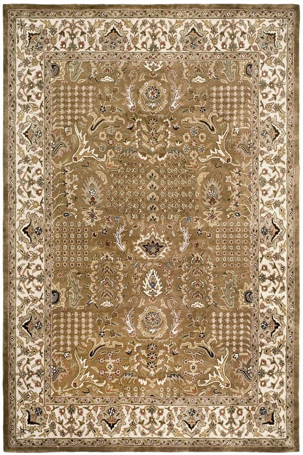 Gold, Beige (A) Traditional / Oriental Area Rug