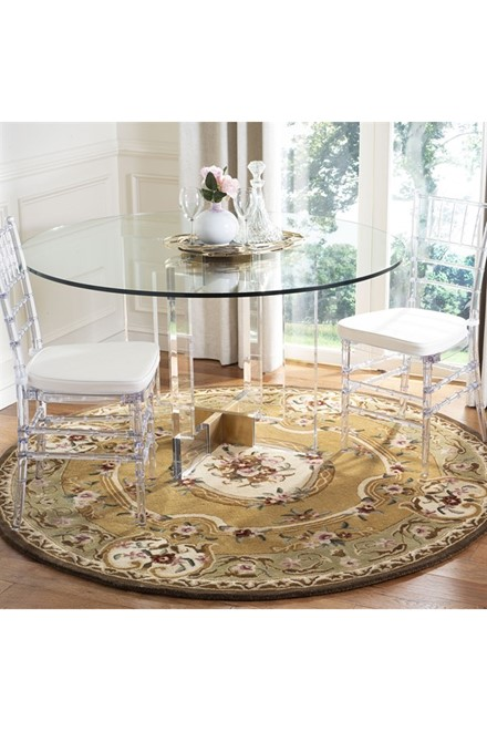 Light Gold, Green (A) Traditional / Oriental Area Rug